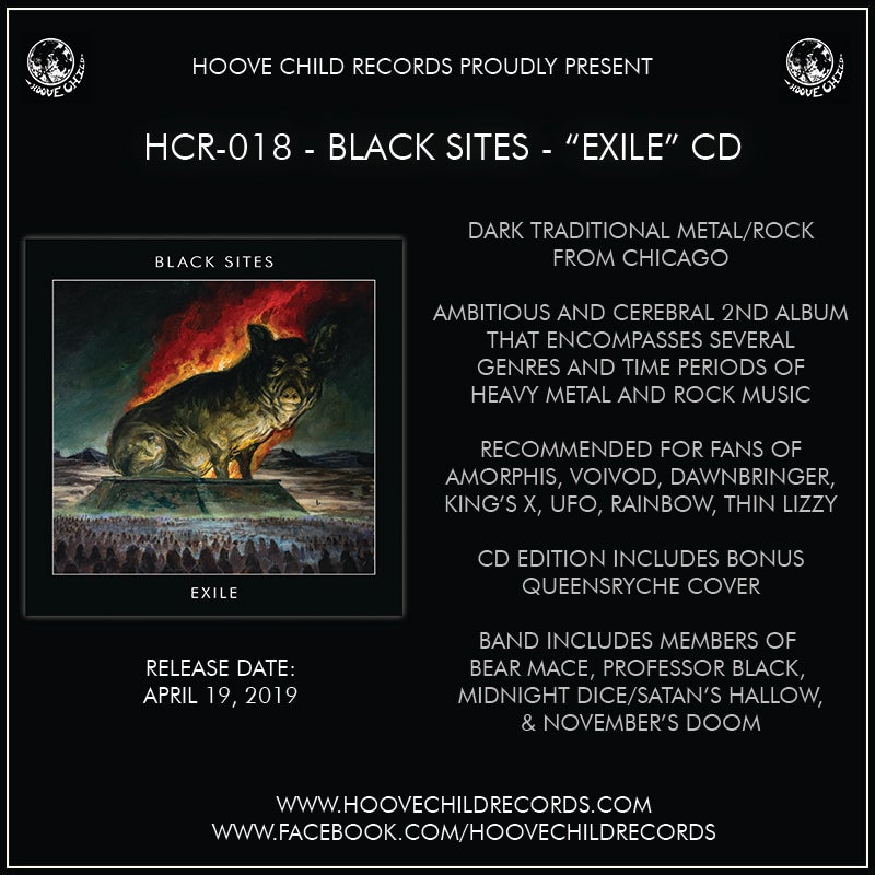 Image of Black Sites - Exile CD [PREORDER]