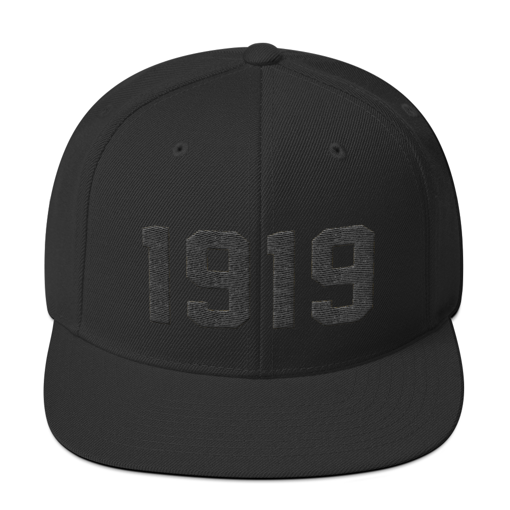 Image of 1919 Snapback Black