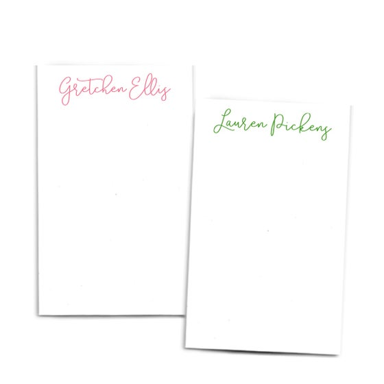 Image of Personalized Script Notepad