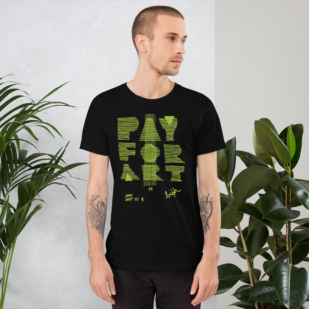 Pay For Art tee - blk/grn