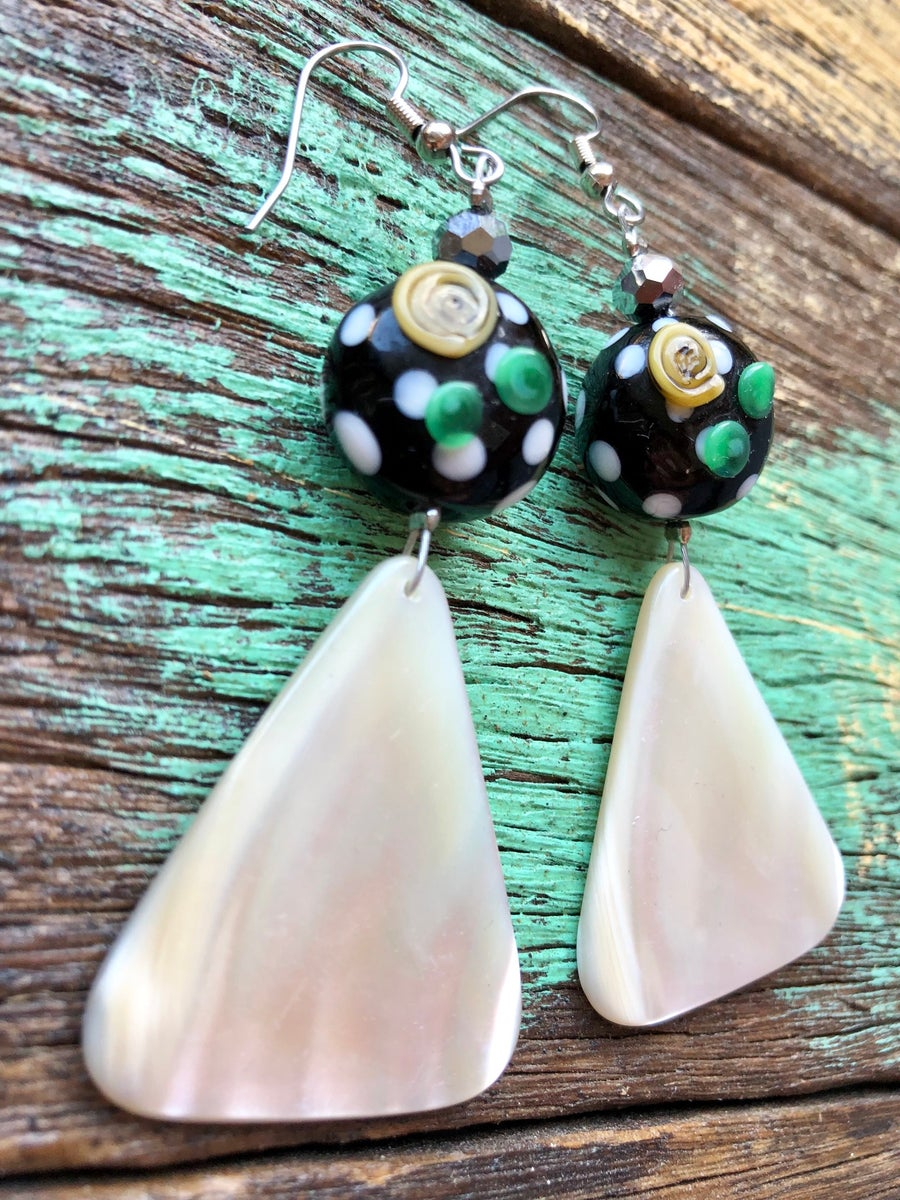 Image of Mother of Pearl Earrings