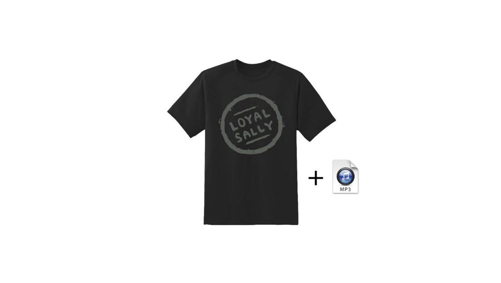 Image of **PRE-ORDER** Postcards LS Logo Tee w/song Mp3