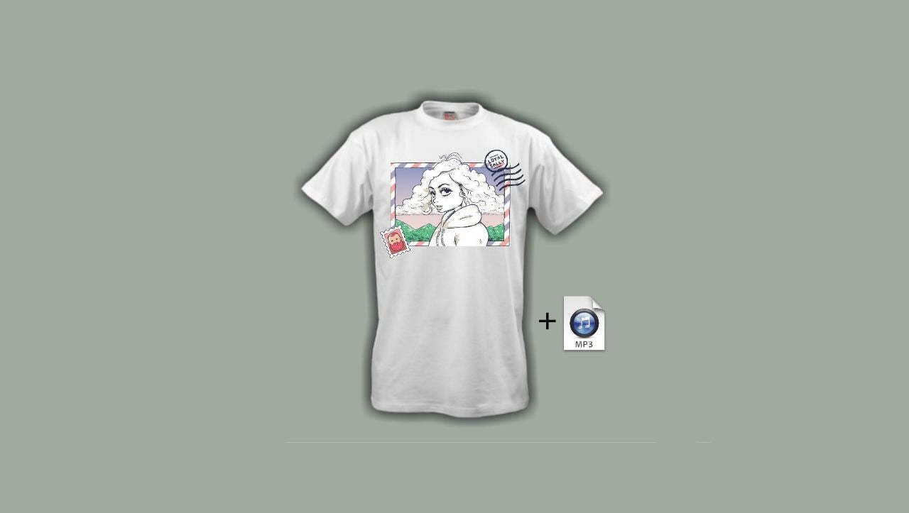 Image of **PRE-ORDER** Postcards Tee w/song Mp3