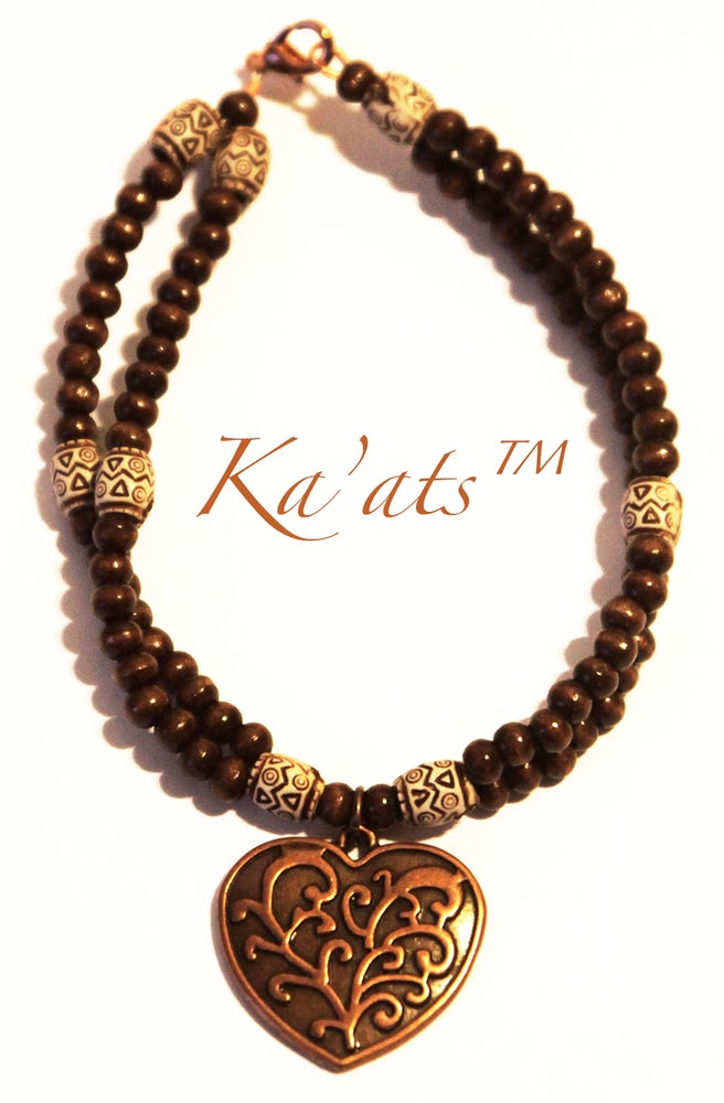 Image of Copper Heart Collar