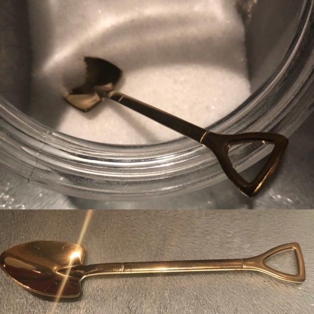 Image of Golden Shovel Sugar Spoon
