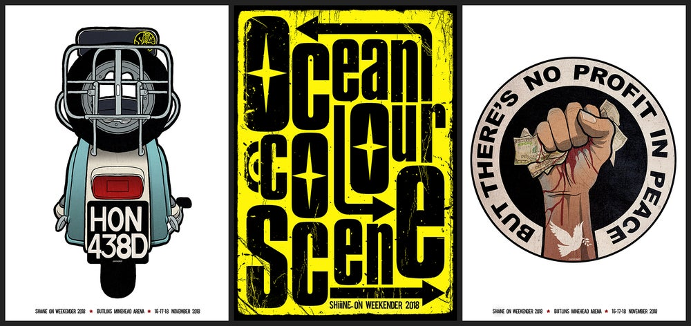Image of Ocean Colour scene - Shiiine On - 3x Poster Bundle