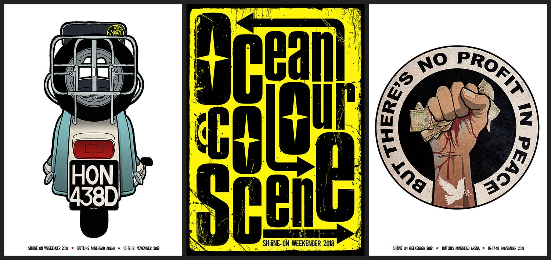 Image of Ocean Colour scene - Shiiine On - 3x Poster Bundle