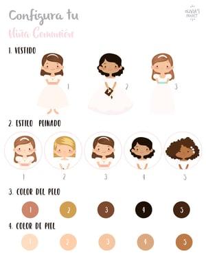 Image of Lámina Comunión Niña Personalizada