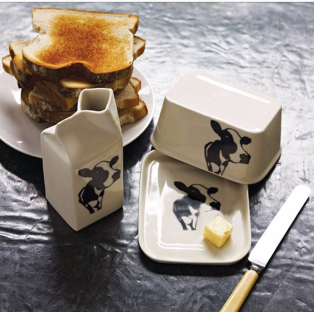 Image of Cow Face Butter Dish