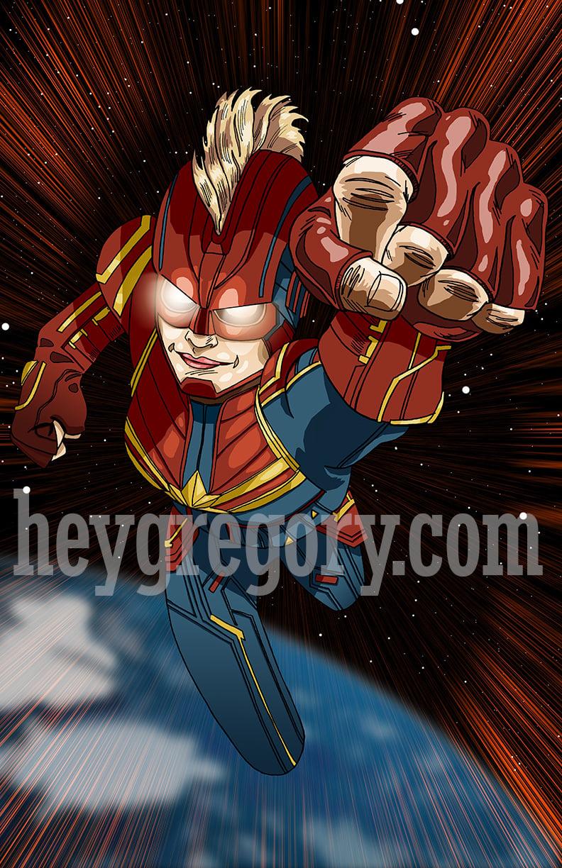 Image of Captain Marvel Print