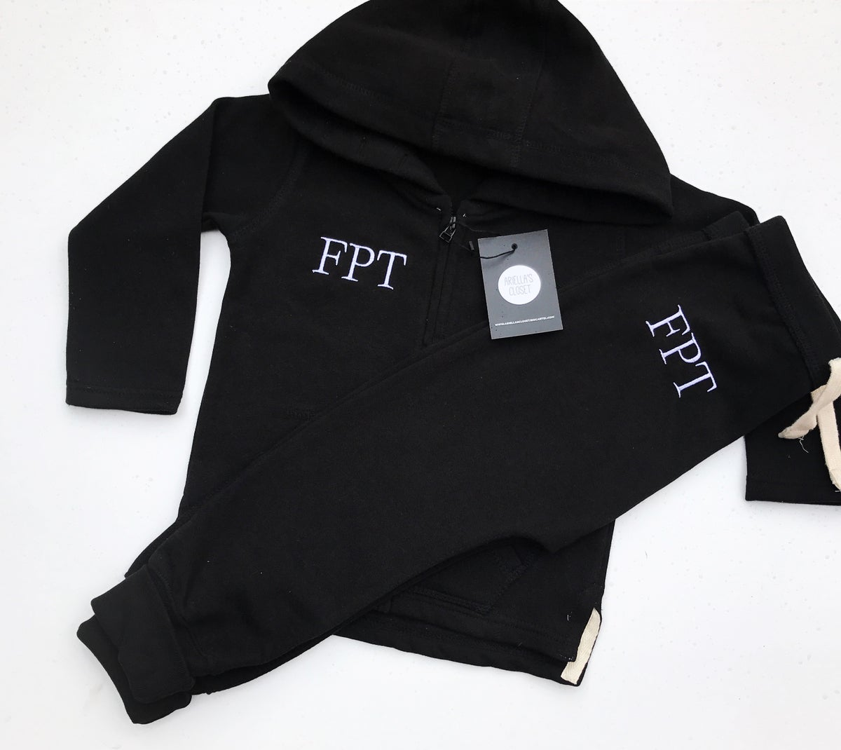 Image of EMBROIDERED INITIALS JOGGER SET LISTING