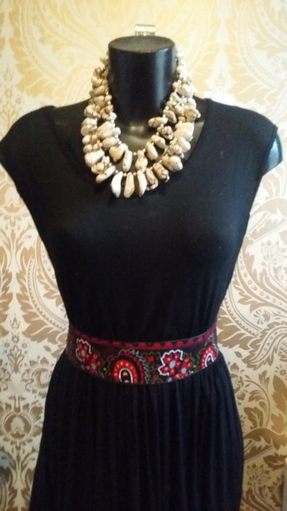 Image of Faux Leather African Fabric Waist Belt (2)