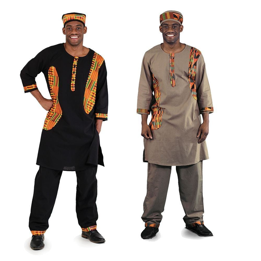 Image of Kente Print Suit