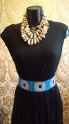 Faux Leather African Fabric Waist Belt (2)