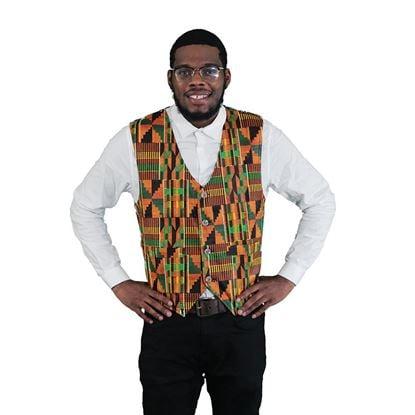 Image of Kente Print vest