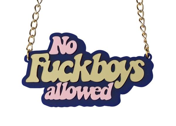 No Fuckboys Allowed Necklace - Black Heart Creatives