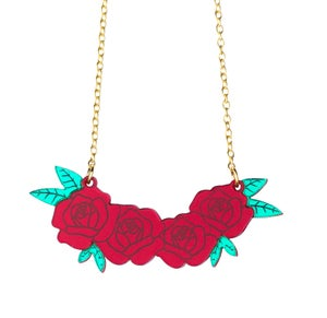 Roses Necklace  - Black Heart Creatives