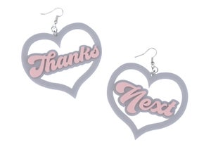 Thanks Next Earrings  - Black Heart Creatives