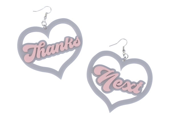 Thanks Next Earrings  - Black Heart Creatives