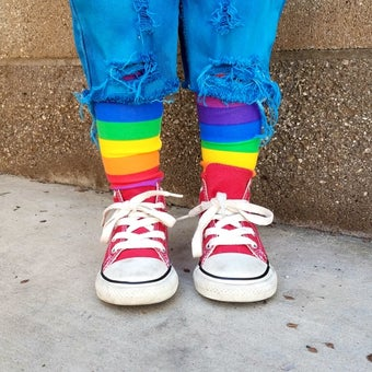 Image of Rainbow Stripe Knee-Highs