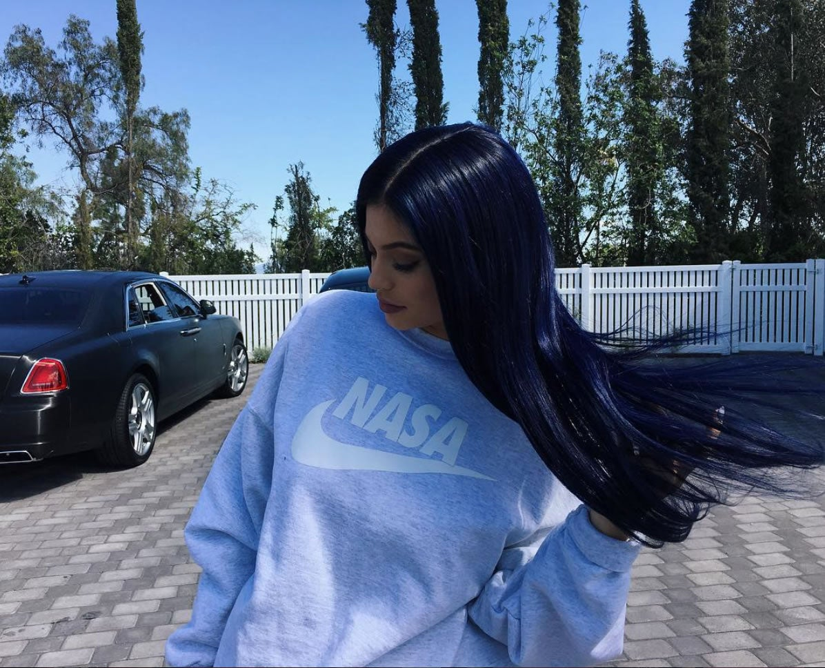 Image of NASA swoosh sweatshirt by SCOTTO as seen on KYLIE JENNER