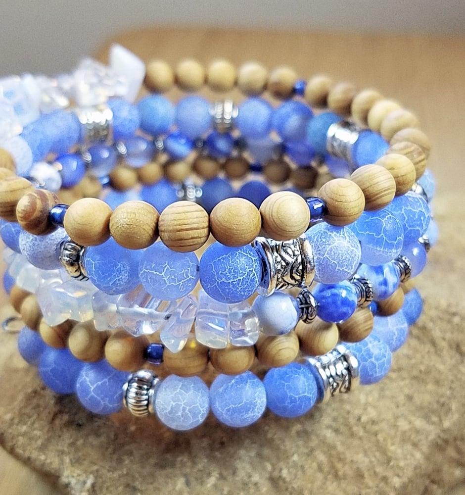 Image of Spring Statement Bracelet in Blue