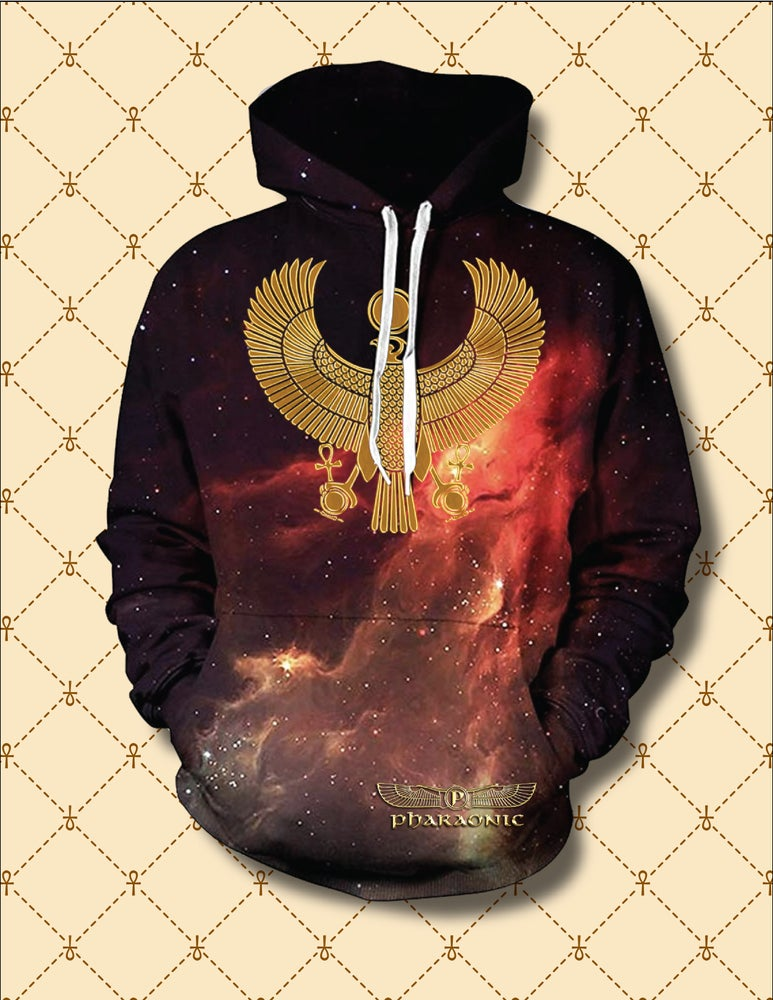Image of Gold HRU Celestial Fire Hoodie
