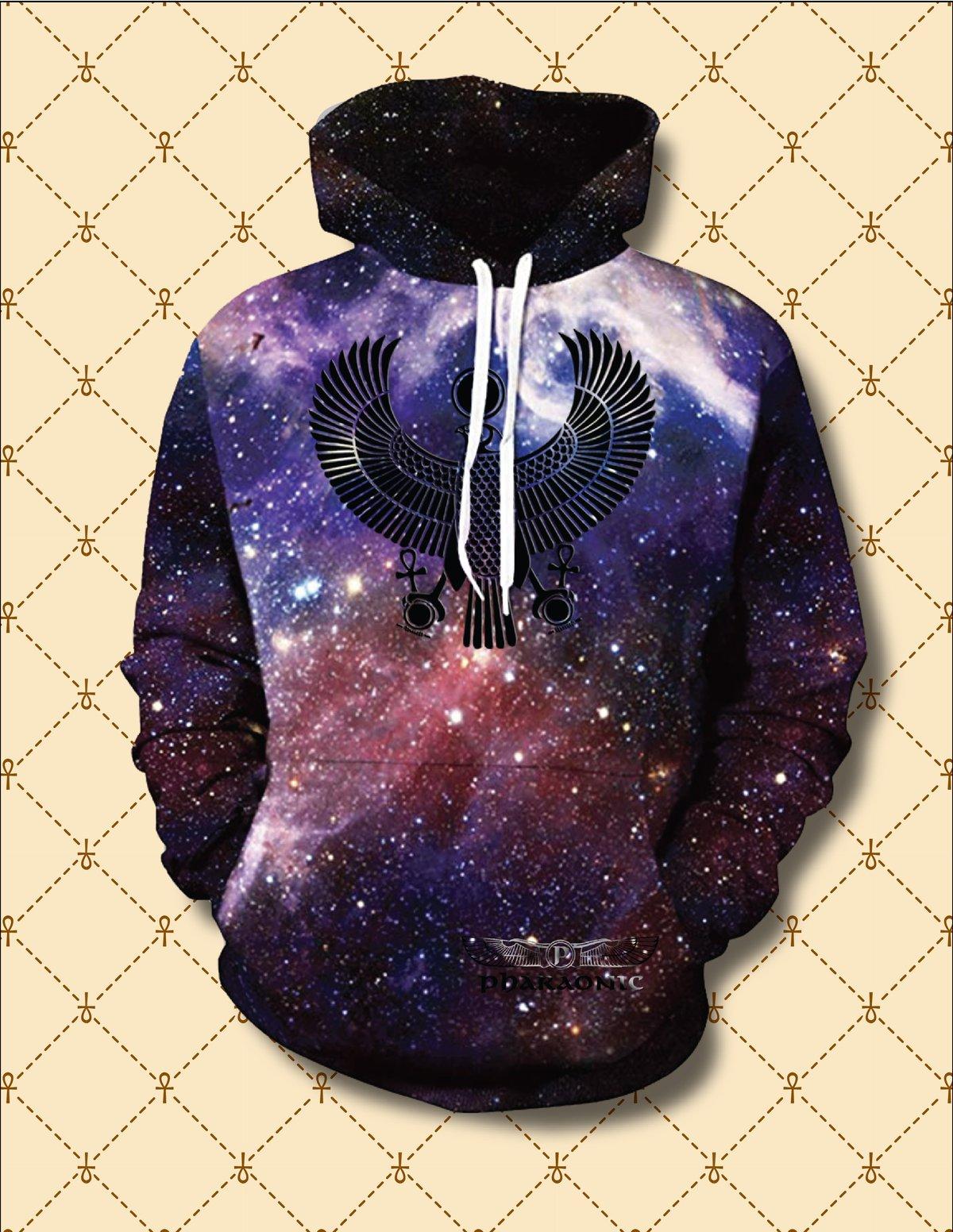Image of Black HRU Dark Matter Hoodie