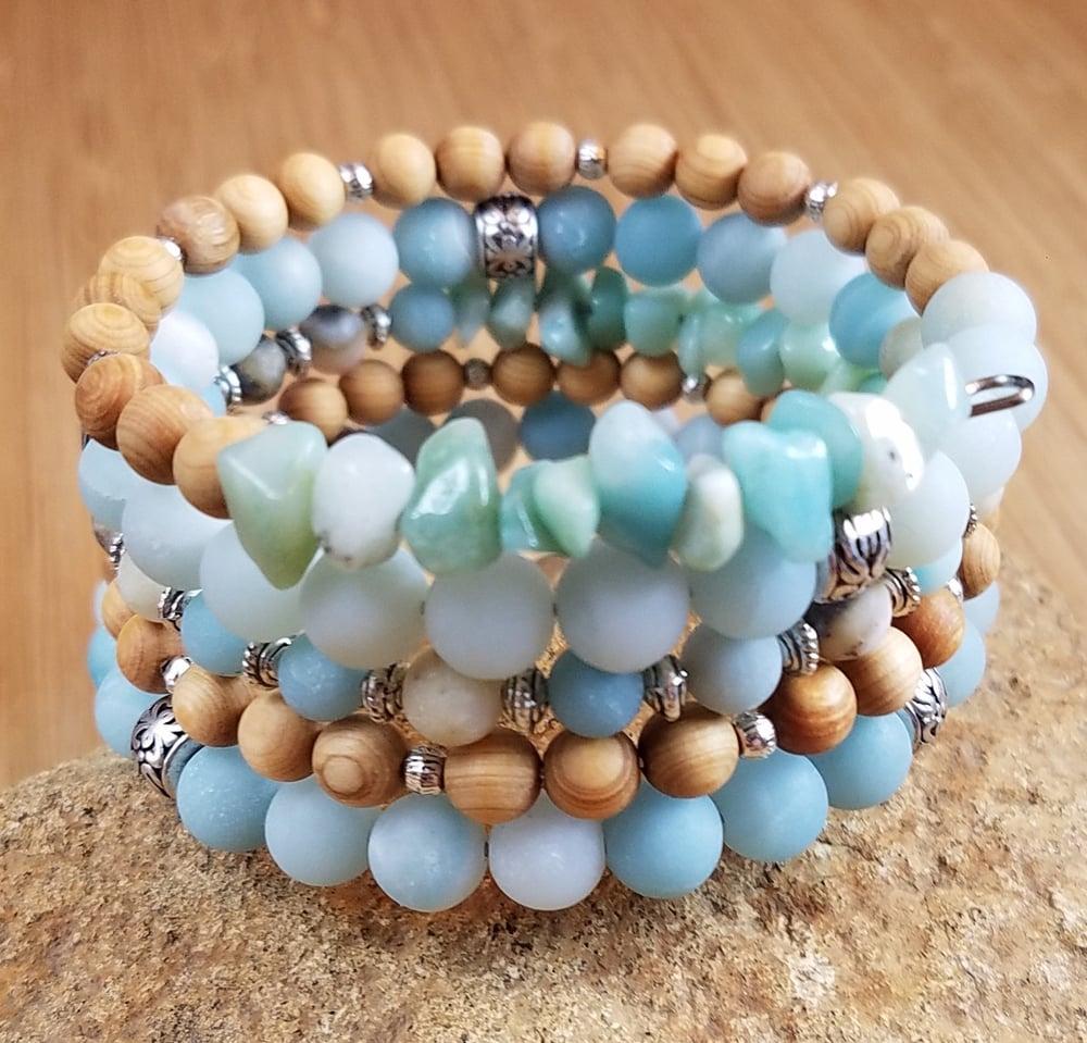 Image of Spring Statement Bracelet in Aqua