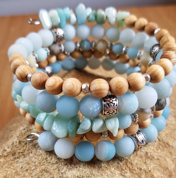 Image of Spring Statement Bracelet in Aqua