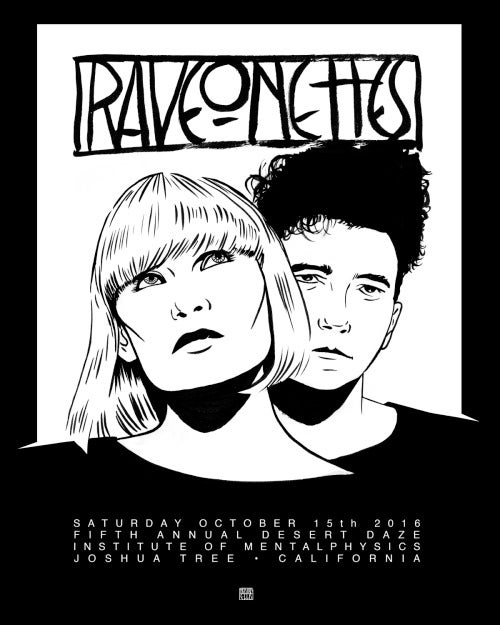 Image of CLEARANCE - Raveonettes by Tristan Ellis - Desert Daze 2016
