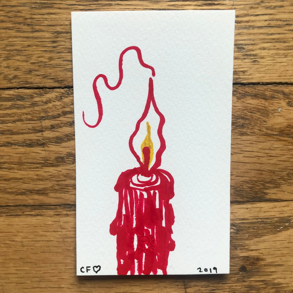 Image of 4 Candle Set + Signed Ink Drawing