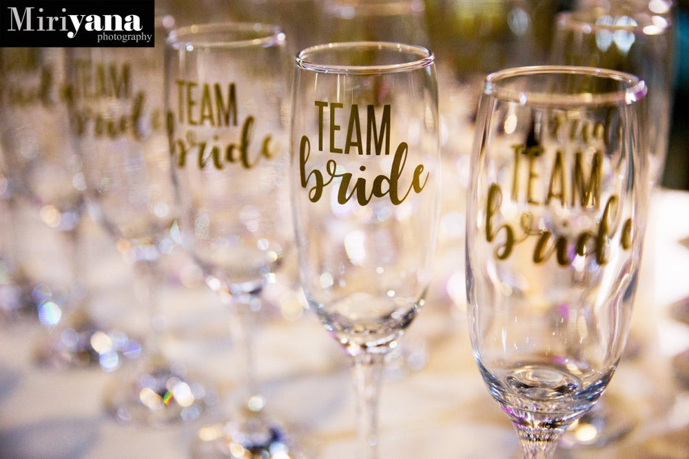 Image of Personalised Champagne Flutes (Non Glitter)