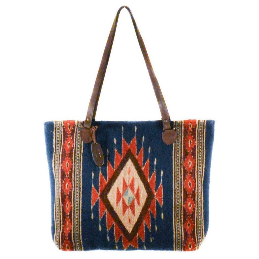 Image of Tribal Diamond Wool Tote
