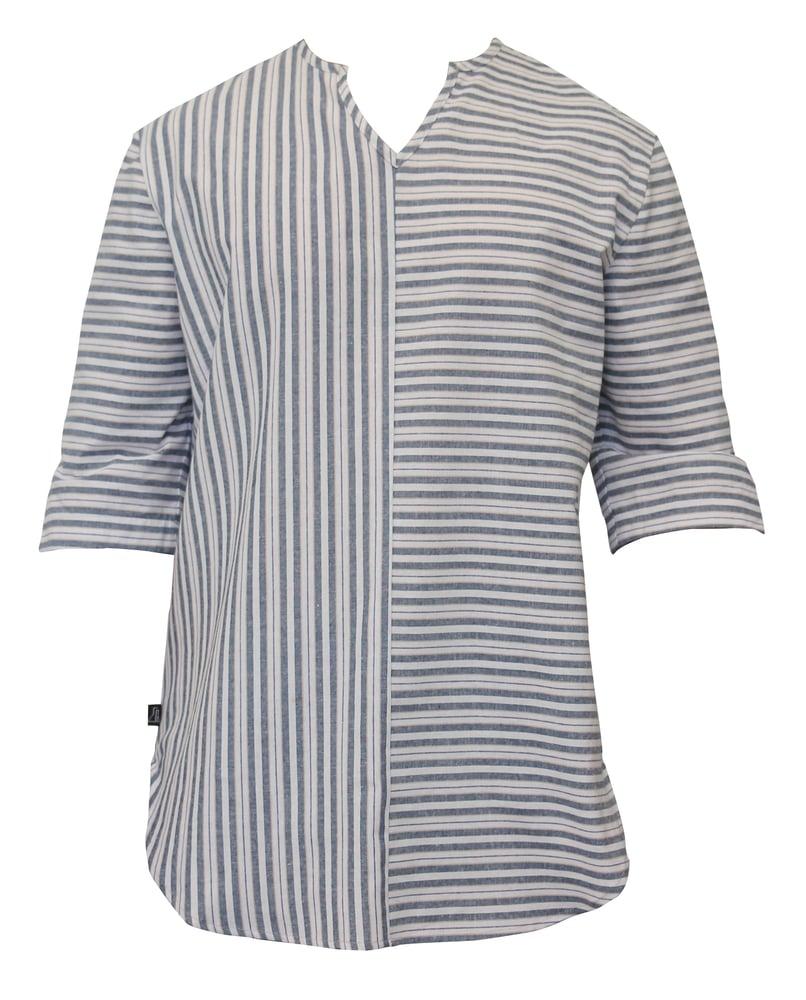 Image of Stripe Linen Boho Shirt