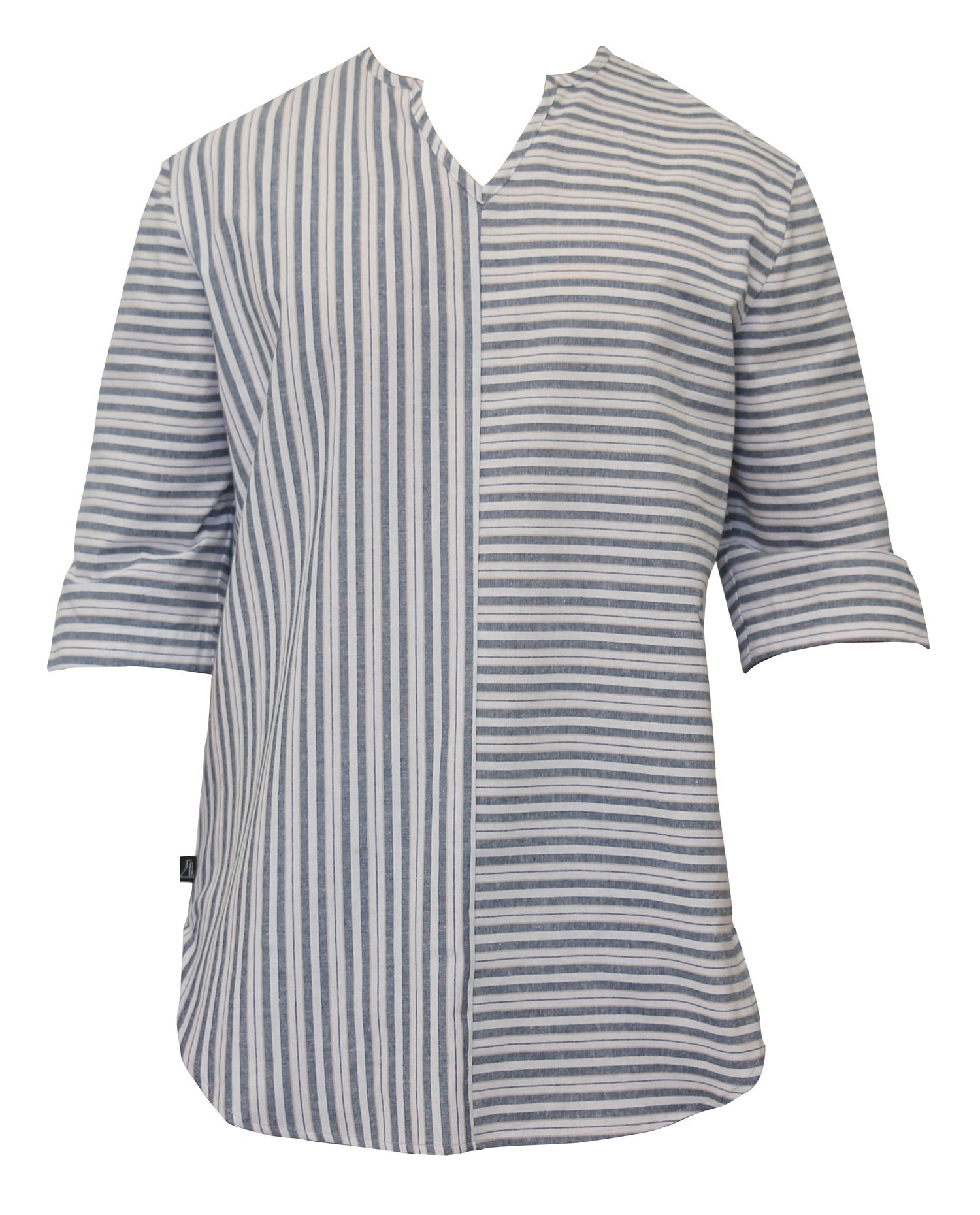 Image of Stripe Linen Boho Shirt