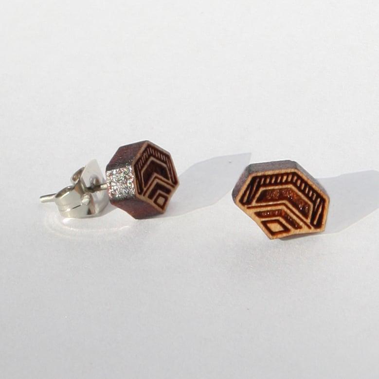 Image of Dragon Scale Stud Earrings