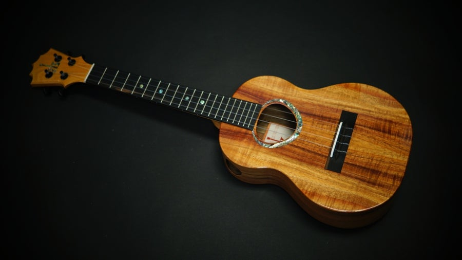 Image of KoAloha Custom Ordered Side Port Curly Koa/Walnut Tenor
