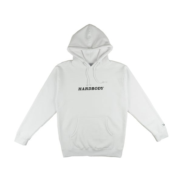 Image of HARDBODY CLASSIC LOGO HOODIE - WHITE