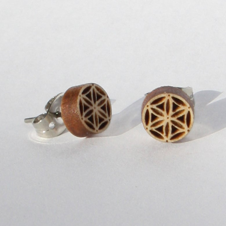 Image of Flower of Life Stud Earrings