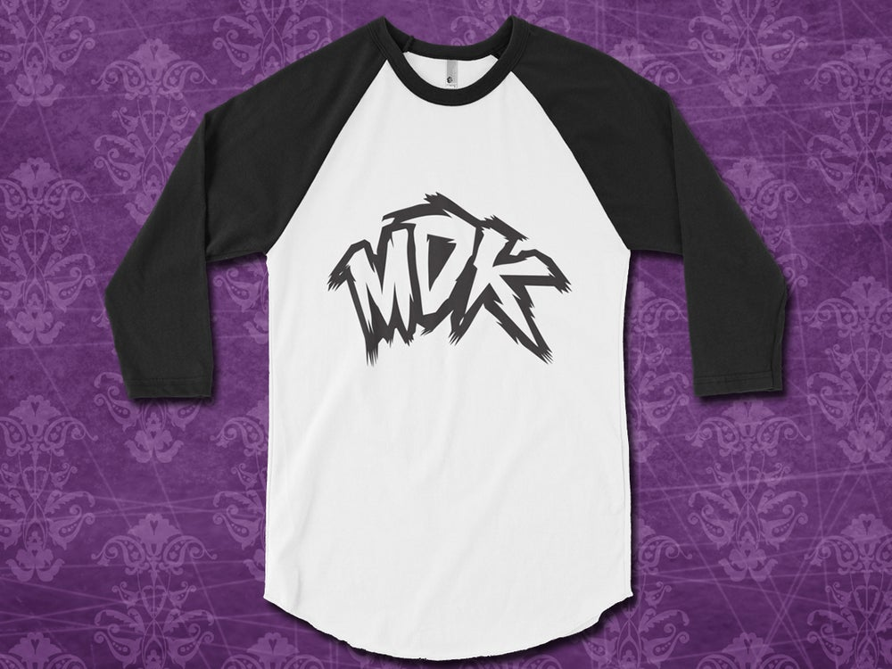 Image of MDK - Original 3/4 Raglan Baseball T-Shirt