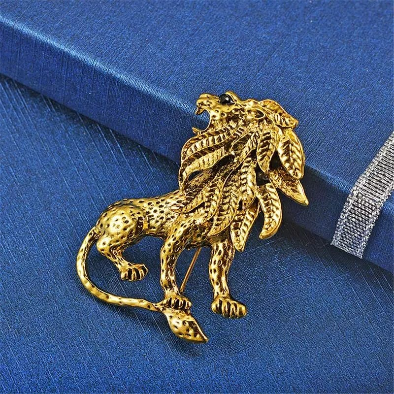Image of LION MANE BROOCH