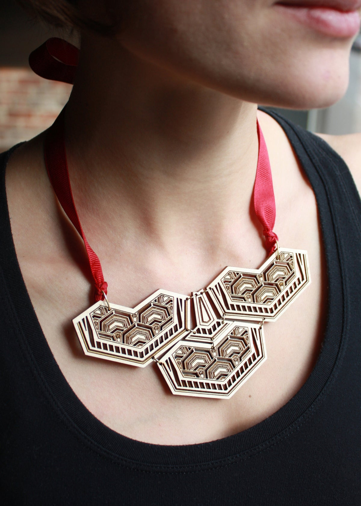Image of Dragon Scale Statement Necklace