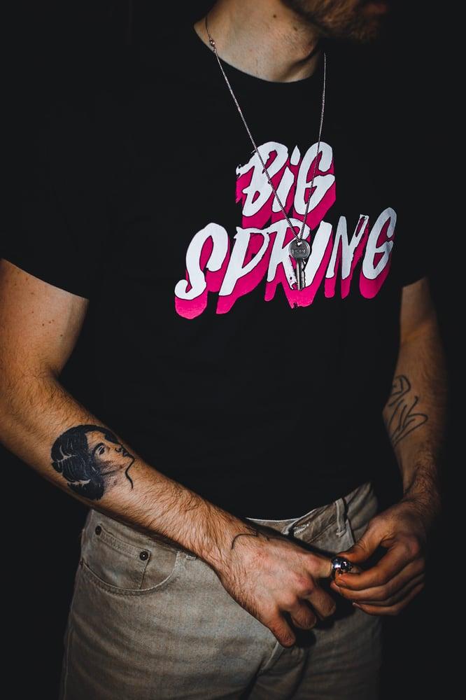 Image of Big Spring OG Pink Logo tee
