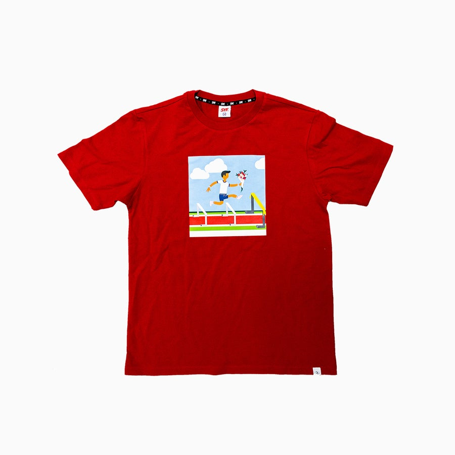 Image of Leap-of-Faith Red Tee