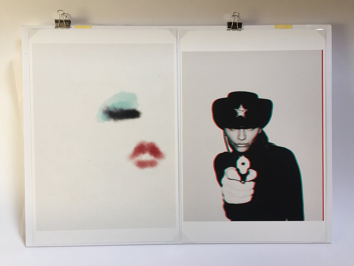 Image of couples diptych giclee 70x50cm signed proof by Chris Heads