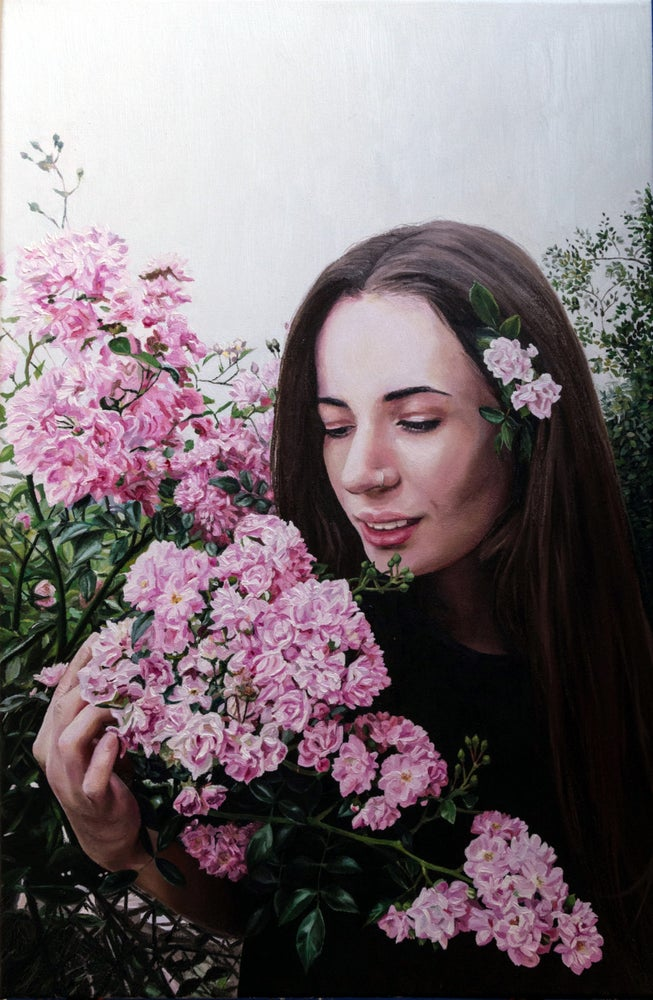 Image of Claudia Kaak, The Soul Of Roses, Oil on canvas, 60 x 40 cm, 2018.