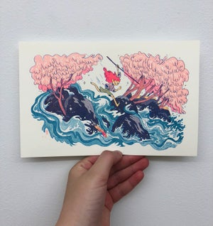 Wild River Girl Print