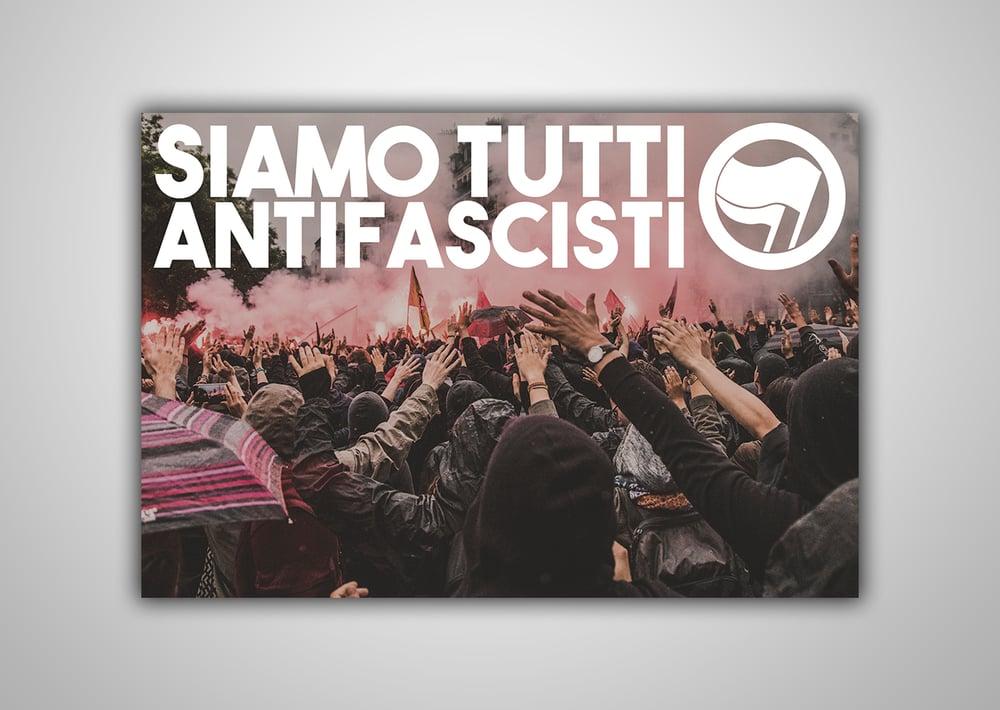 "Image of 100 Autocollants ""SIAMO TUTTI ANTIFASCISTI"""