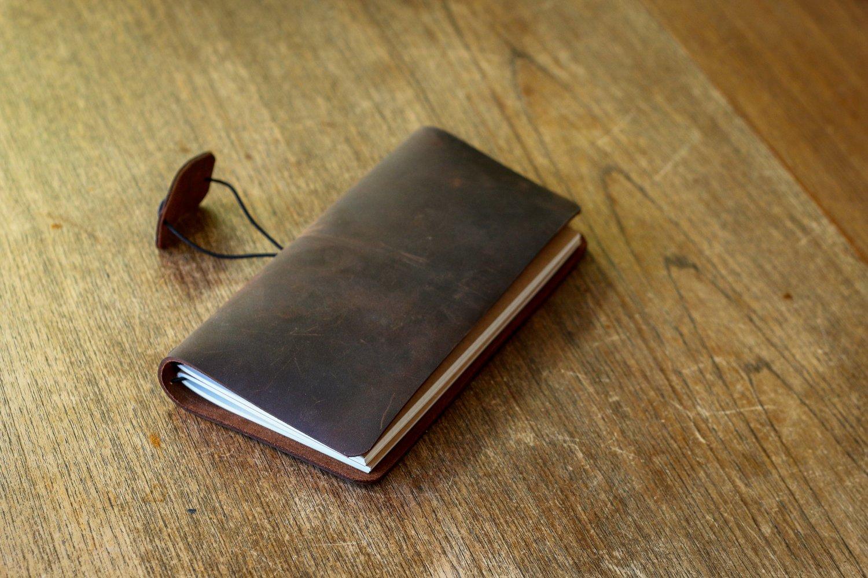 Image of Traveler's Notebook in Dark Brown Crazyhorse